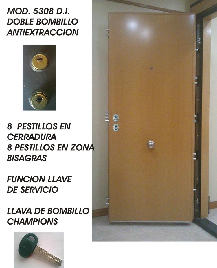 Puertas acorazadas blindadas grado 5 maxima seguridad con for Puertas blindadas